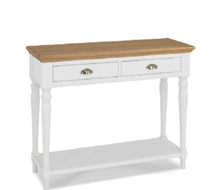 Hampstead Two Tone Console Table Turned Leg